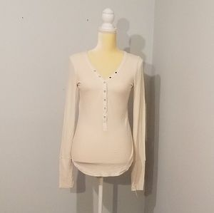 Three Dots comfy long sleeve shirt sz Small